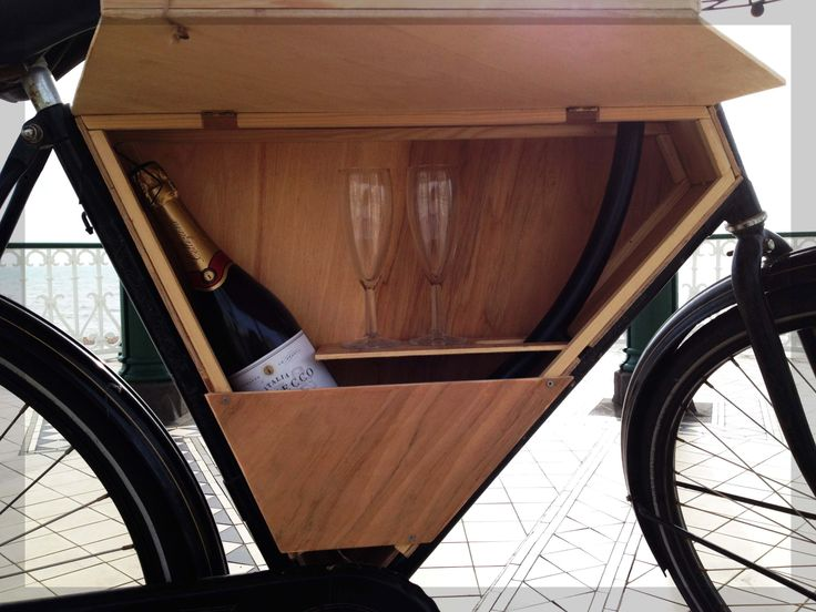 wooden bike bar box shelf with champagne bicycle mini bars pinterest box shelves and bicycling. Black Bedroom Furniture Sets. Home Design Ideas