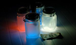 Awesome solar powered sun jars!