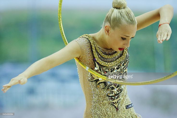 Russian rhythmic gymnast Yana Kudryavtseva performs her hoop routine during the Individual All-Around qualification event at the 2016 FIG Rhythmic Gymnastics World Cup, at the Gymnastics Center in Kazan. Yegor Aleyev/TASS