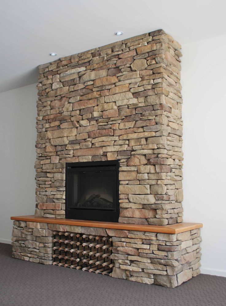 Top off the look of your fireplace with a AU005 stone tile.