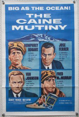 Humphrey Bogart, The Caine Mutiny original film poster http://www.timelessmoviemagic.co.uk/caine-mutiny-original-movie-poster-humphrey-bogart-macmurray-ferrer-r59-2107-p.asp