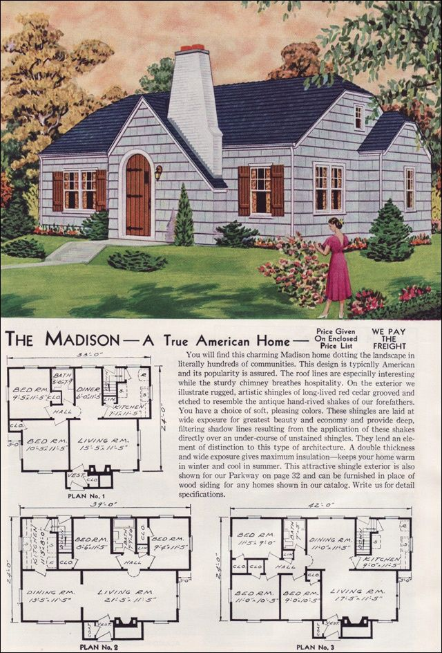 Vintage house plan inspirace pro n budouc d m for Madison home builders house plans