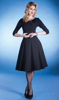 Boat Neck Circle DressDresses Black, Style, Church Clothing, Vintage Fashion, Swings Dresses, Classic Dresses, Little Black Dresses, The Dresses, First Lady
