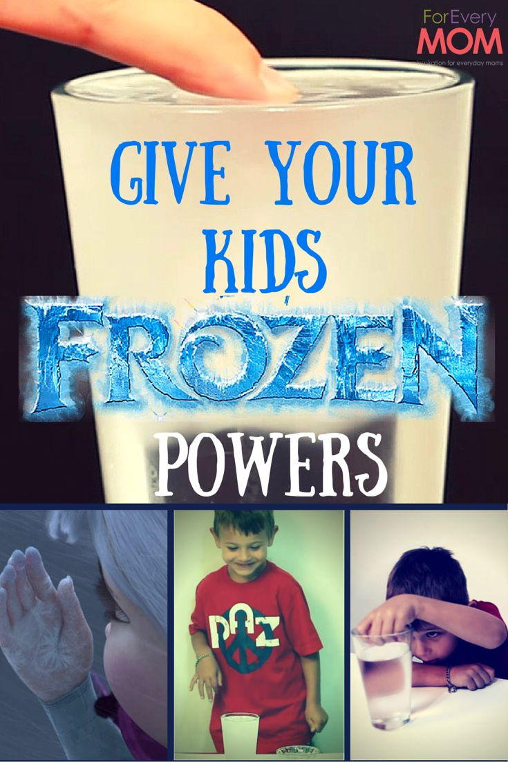 Disney Frozen Powers! Give your kids Queen Elsa's freezing powers with these Disney Frozen crafts that are also a great science lesson!