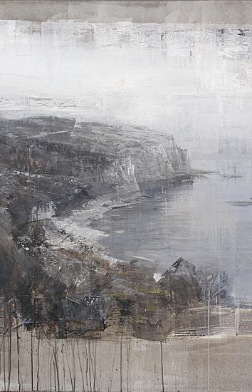 Alexey Alpatov, port bou, 2009 (detail) - mixed media on canvas, 140/180cm