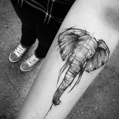 od świtu do zmierzchu tattoo elephant
