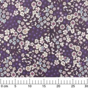 Fabric Lecien - Aubergine x10cm