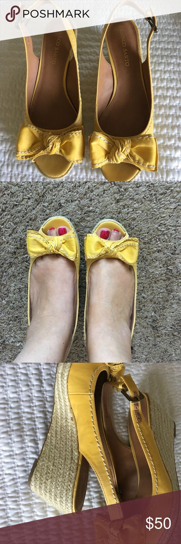 NWOT Mustard Yellow Espadrilles Never worn Bow Front Espadrilles - Mustard Yellow. Franco Sarto Shoes Espadrilles