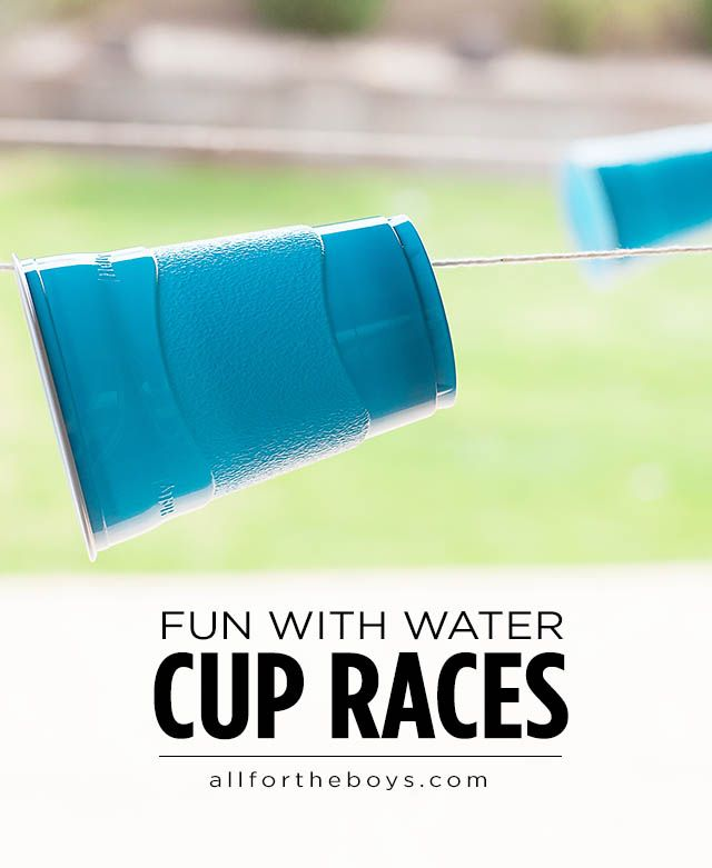 All for the Boys - (WATER FUN) CUP RACES! Outdoor game with water guns