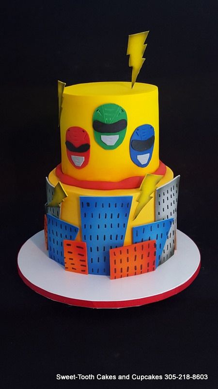 Power Ranger Cake | Sweet-Tooth Cakes and Cupcakes | Flickr