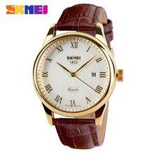 Мужские Часы Лучший Бренд Класса Люкс Кварцевые Часы Моды Натуральная Кожа Бренд 30 м Водонепроницаемые Платье Наручные Часы reloj hombre(China (Mainland))