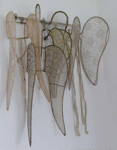 Antique French angel wings.....every girl needs a place to hang her wings.                                                                                                                                                      More