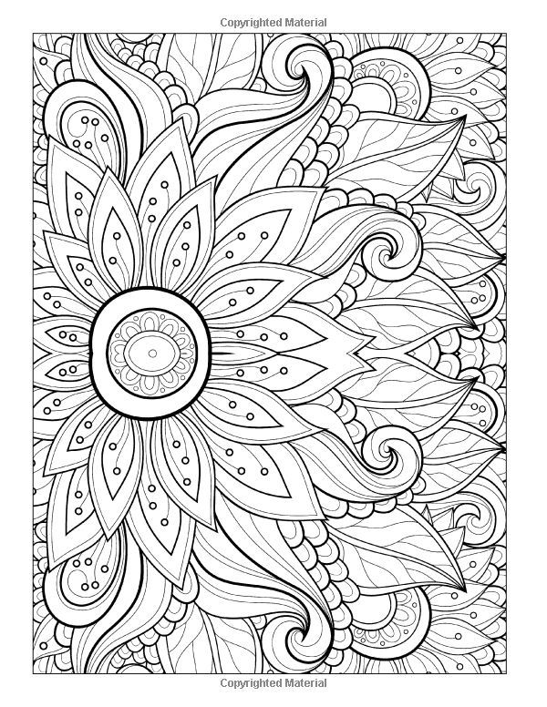 Free Coloring Page Adult Flower With Many Petals