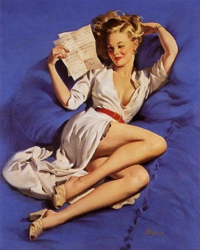 Pin Up Poses, Girls Generation, Pinupart, Vintage Pin Up, Pin Up Art, Pinup Girls, Gil Elvgren, Letters, Pin Up Girls