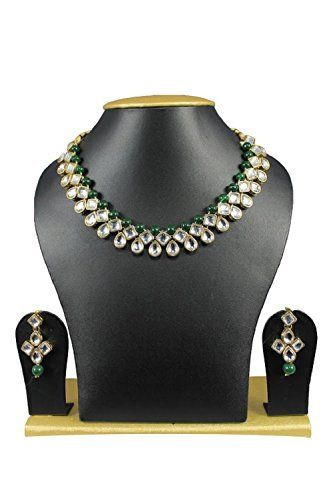 Indian Bollywood Designer Gold Plated Ethnic Traditional Green Pearls Kundan Necklace Set VVS Jewellers, http://www.amazon.com/dp/B01KA8FO8E/ref=cm_sw_r_pi_dp_x_FW4uzbGXVMEB6