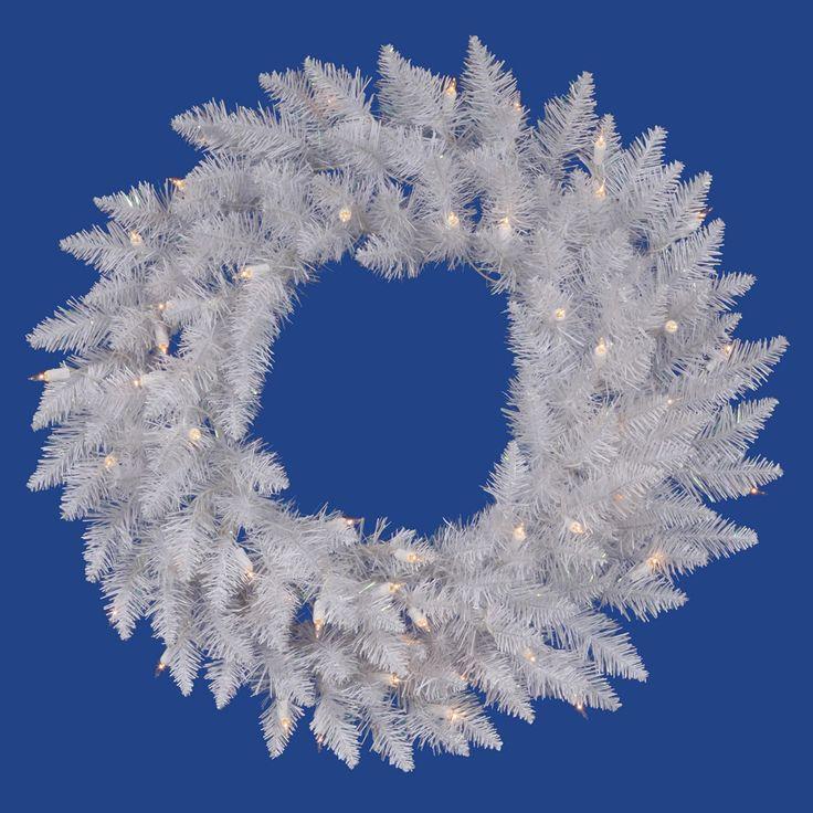 Christmas Wreath-Sparkle White Wreath- Christmas Confections Tree Theme