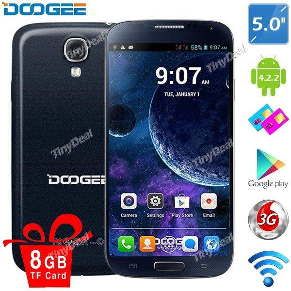 "(DOOGEE) VOYAGER DG300 5"" IPS MTK6572 Android 4.2.2 Dual Core Phone   5MP CAM (512MB RAM   4GB ROM) P05-DG300"