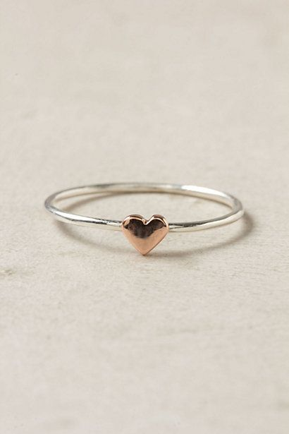 Wee Heart Ring, Rose Gold