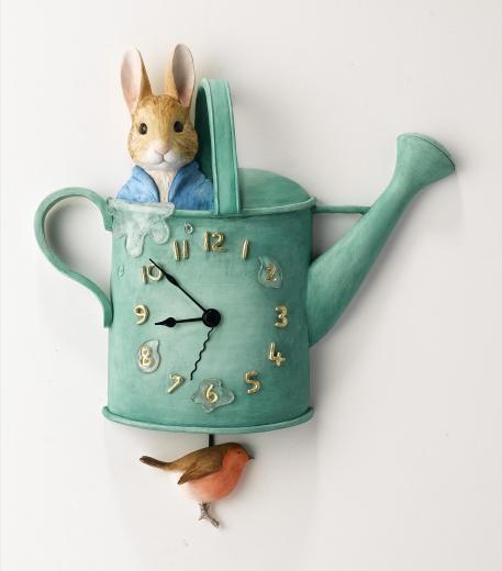 Peter Rabbit Watering Can - Beatrix Potter Clock