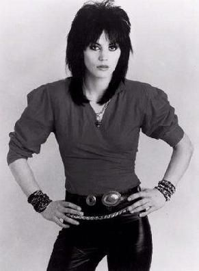 Joan Jett. *sings* I don't give a damn bout my bad reputation. . .