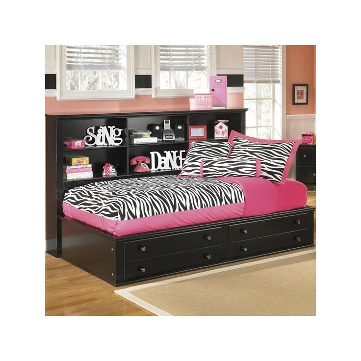 This Trundle Bed With Built In Drawers And Shelves Is A