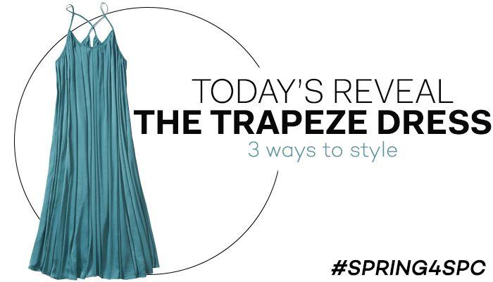 Trapeze dress from #BananaRepublic