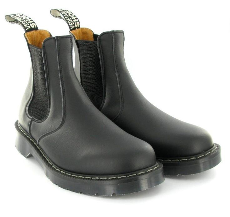 Chelsea Boot in Black from Vegetarian Shoes – MooShoes