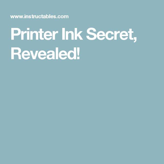 Printer Ink Secret, Revealed!