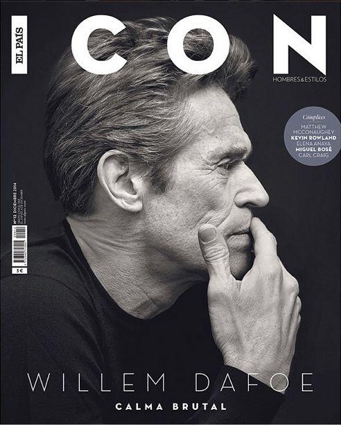 Icon: Das Magazin von El Pais bringt eine Story über Willem Dafoe. Es scheint fast unmöglich, den Charakterschauspieler schlecht zu fotografieren.