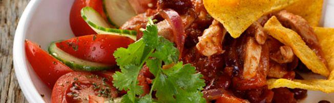 Kipchili Met Tomatenblokjes Bonen