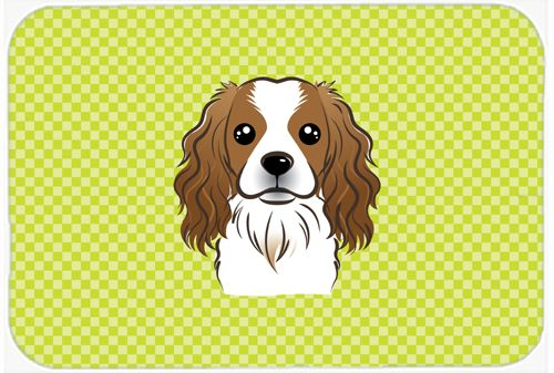 Checkerboard Lime Green Cavalier Spaniel Mouse Pad - Hot Pad or Trivet BB1286MP #artwork #artworks