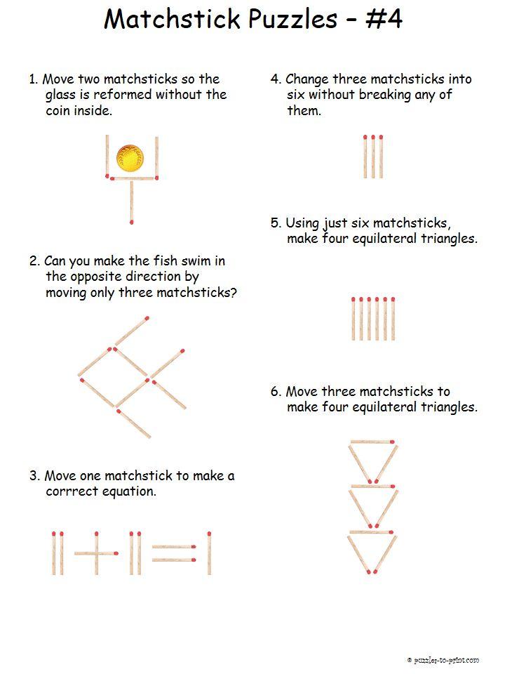 9 matchstick puzzles meet