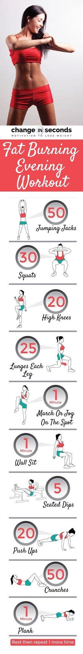 Fat Burning Evening Workout (Download PDF)