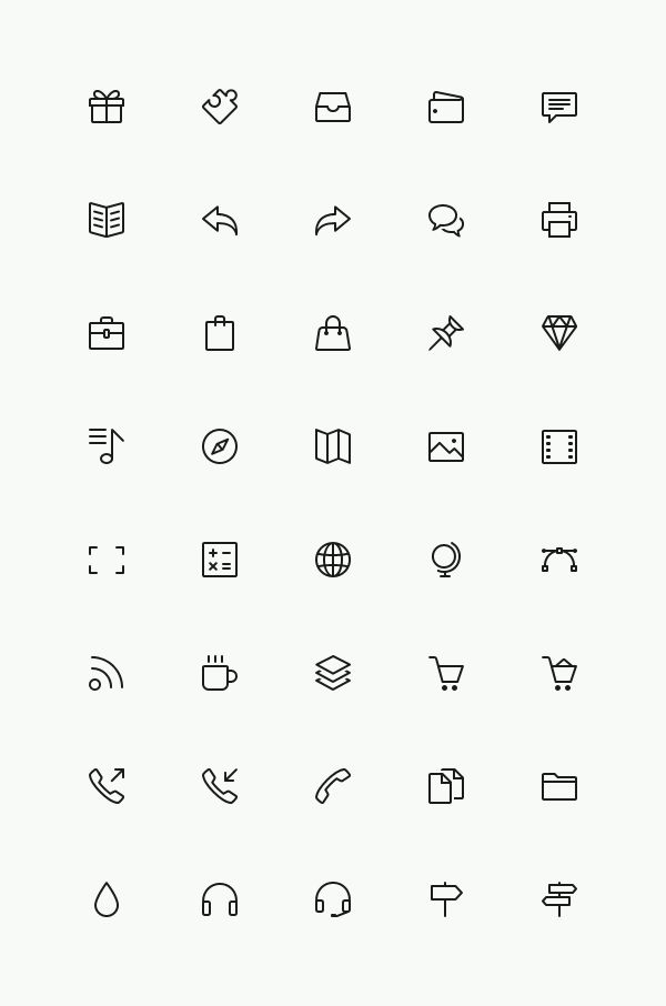 GraphicBurger » Simple Line Icons Set Vol.3