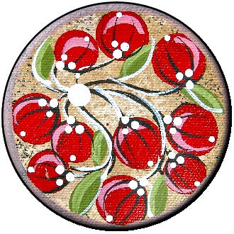 AusEmade: Berry / Berries - Bush Tucker, Bush Food and Art  http://ausemade.com.au/aboriginal/resources/symbols/symbols.htm