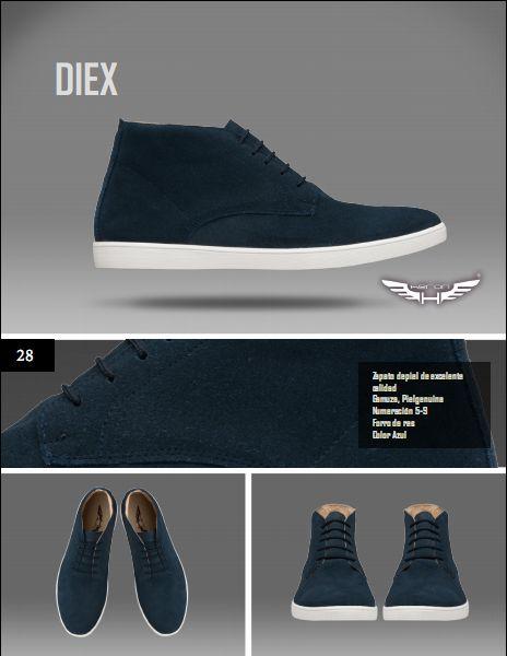 #Calzado modelo diex, color azul. #moda