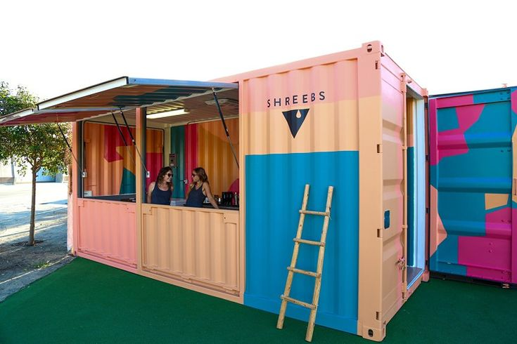 Shreebs' shipping container in the Arts District, Los Angeles