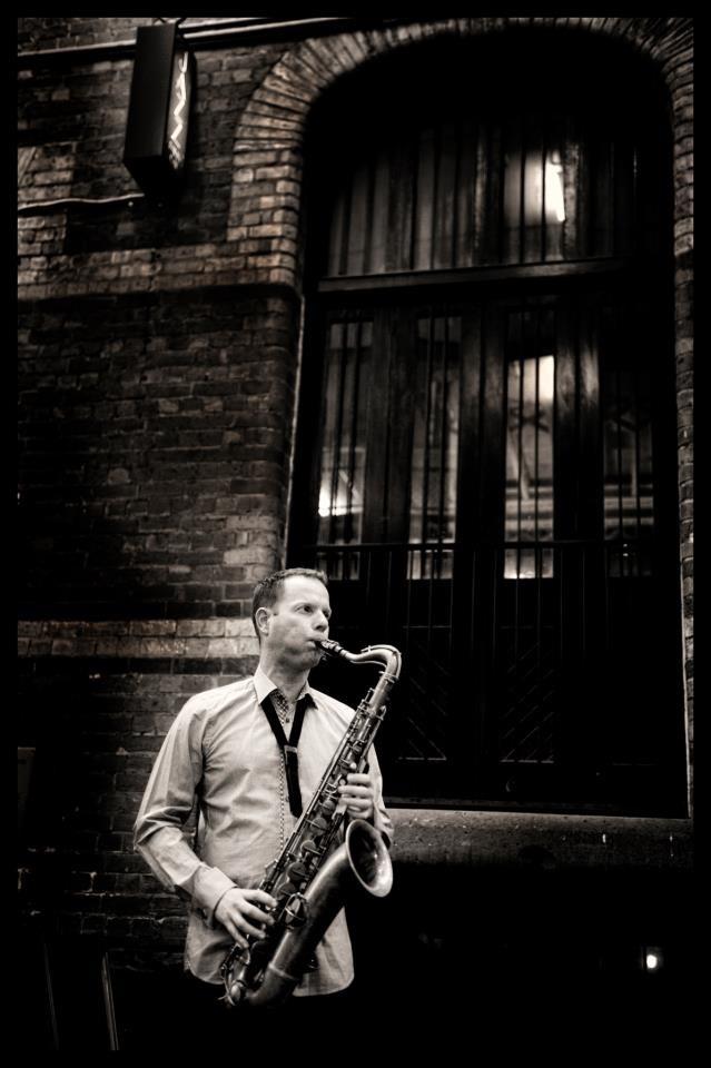 Commercial Photography Melbourne - Sax Player Con Tsioukis of Alex Pavlou Photography