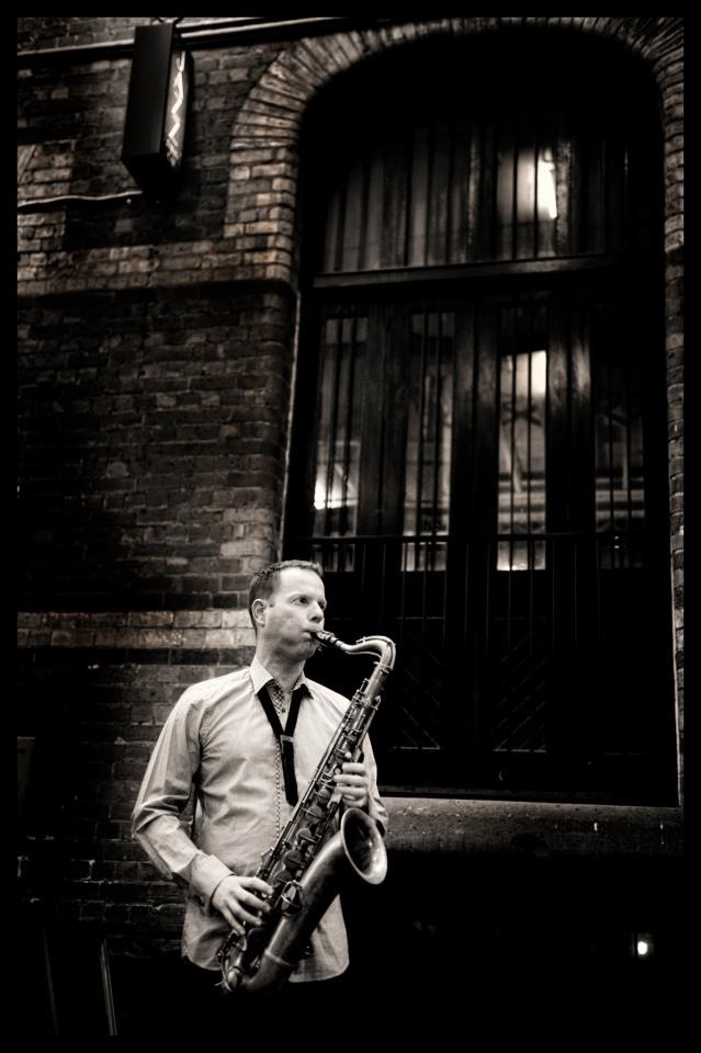 Commercial Photography Melbourne - Sax Player Con Tsioukis of Alex Pavlou Photography