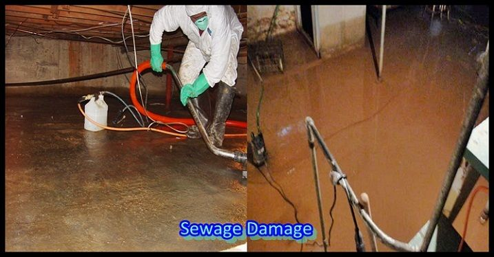 SEWAGE DAMAGE CLEANUP EXTRACTION