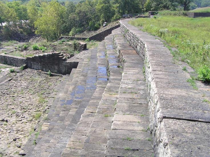 Stone Spillway of Okmulgee Lake Dam, Okmulgee County
