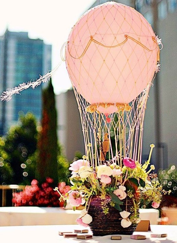 Hot air balloon centrepiece how simply stunning