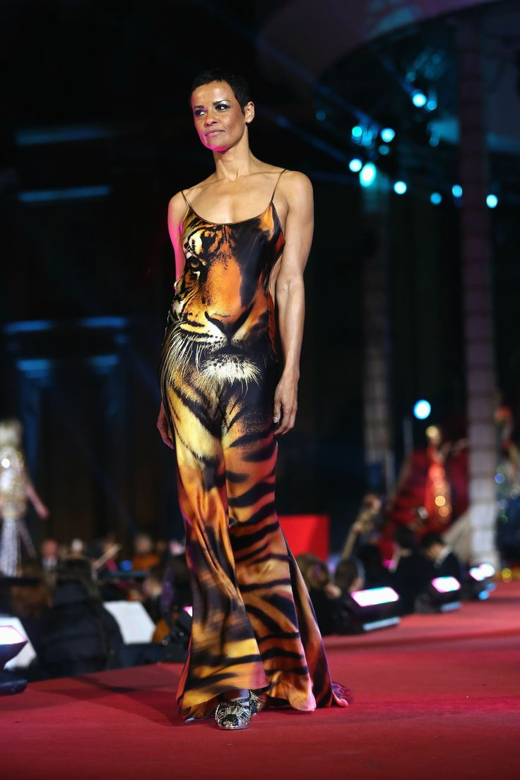 Nadege in robertocavalli roberto cavalli fashion show at the lifeball2013 in vienna