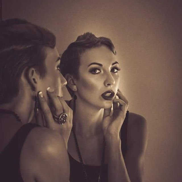 #noir #mirror #reflection #portrait of #model Rebecca Blackburne @becca3495 #beauty #beautiful #style #talent #picoftheday #art #photography #business