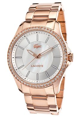 Lacoste Sofia Rose-Tone Ion Plated Stainless Steel Mother of Pearl Dial Watch - $179.99