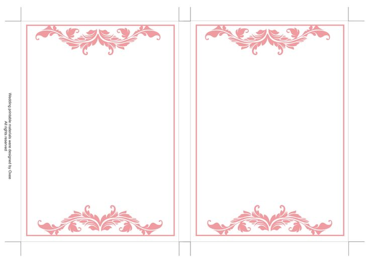 Pink Vintage Border Templates Free printable wedding...