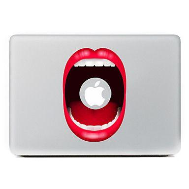 lábio vermelho adesivo decorativo pele para o ar macbook / pro / Pro com tela retina - EUR € 7.83