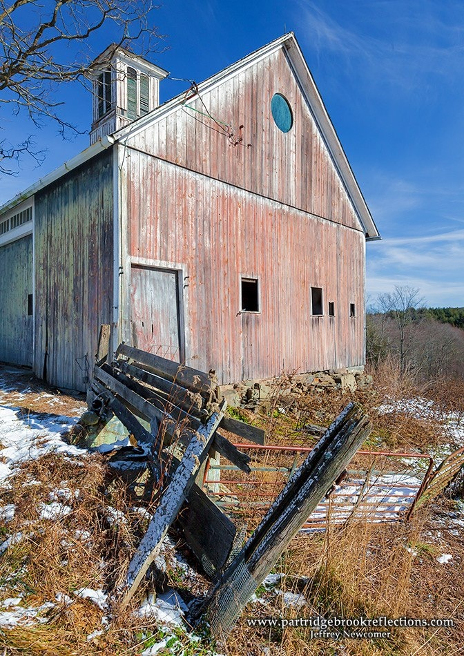 Old weathered barn in New Hampshire...it used to be red ...