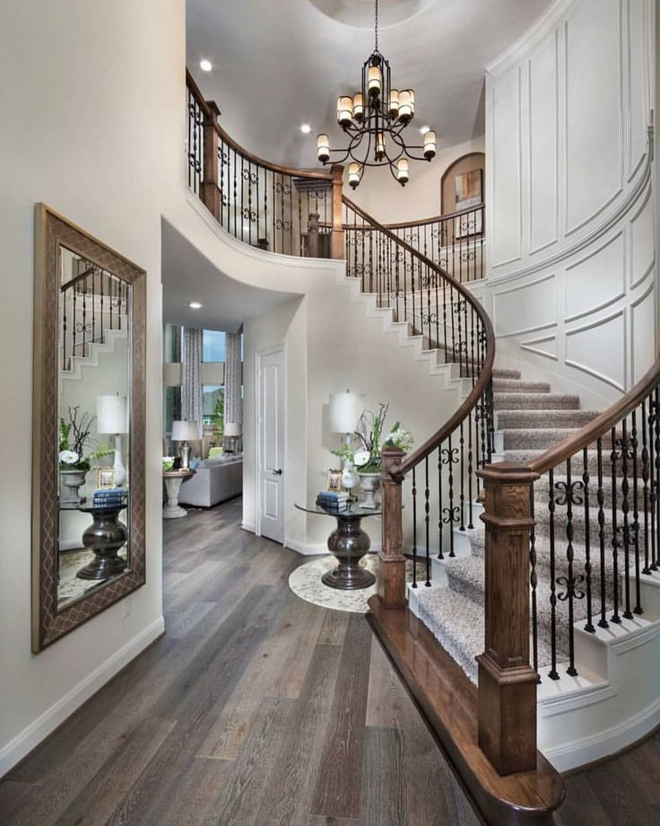 """5,422 Likes, 51 Comments - Grace R (@lovefordesigns) on Instagram: """"Foyer inspiration... . By Village Builders . #lovefordesigns#custombuilt…"""""""