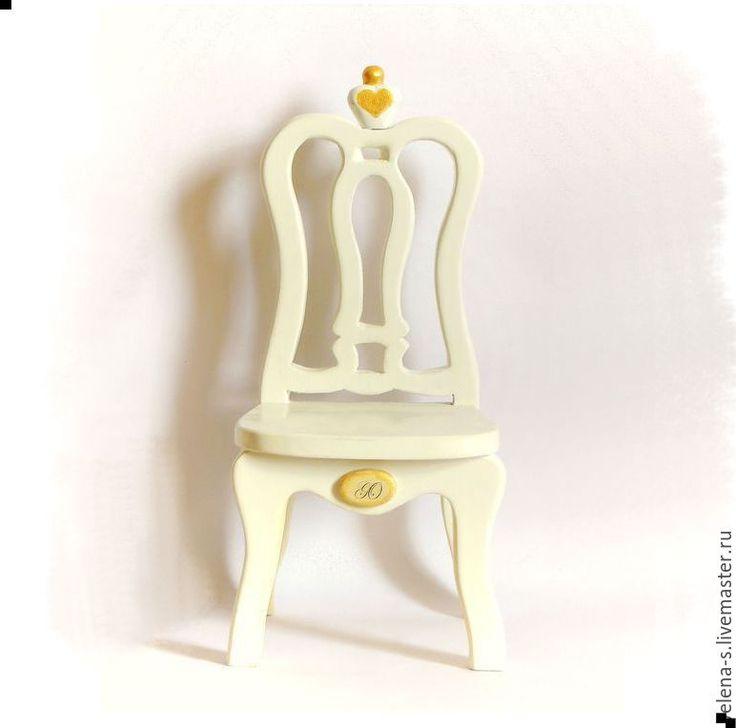 """Купить """"Стульчик для куклы №1"""" - мебель для кукол, кукольный дом, стул, стульчик, стульчик для куклы"""